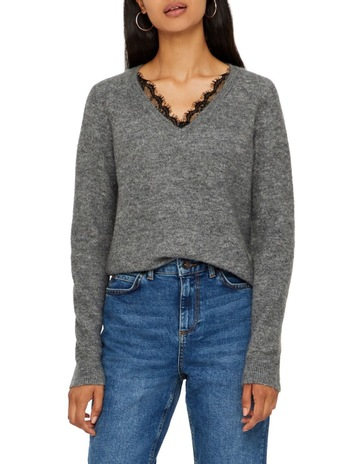 1e18fb6e566 Vero Moda Iva Long Sleeve V-Neck Knit