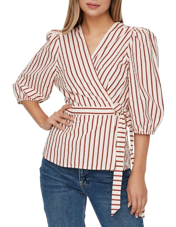 Olympia Striped Wrap Top image 1