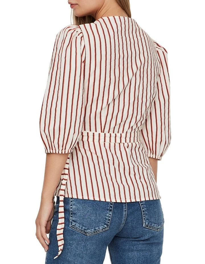 Olympia Striped Wrap Top image 2
