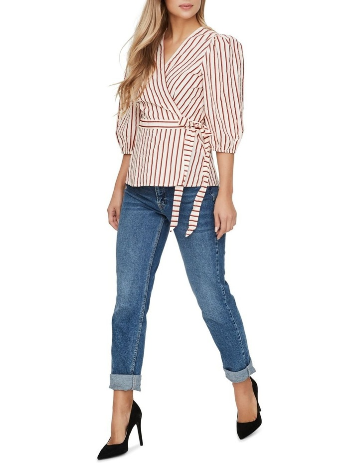 Olympia Striped Wrap Top image 3