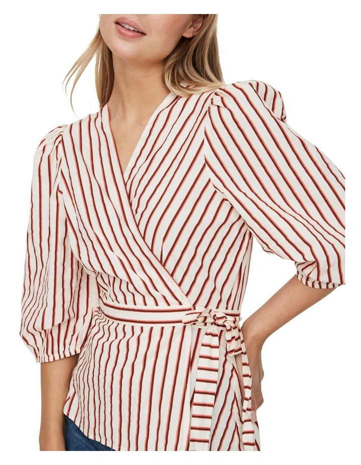 Olympia Striped Wrap Top image 4