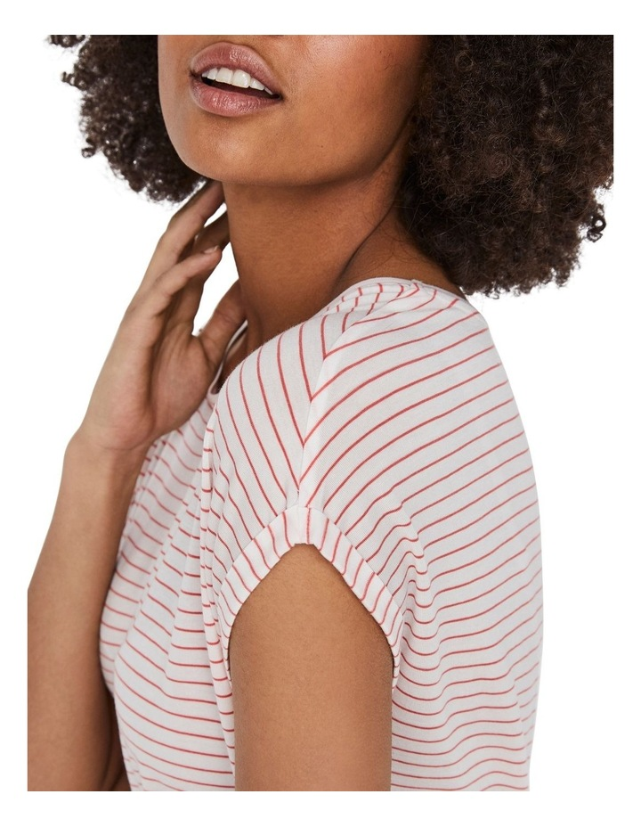 Ava Striped Short Sleeved Top image 4