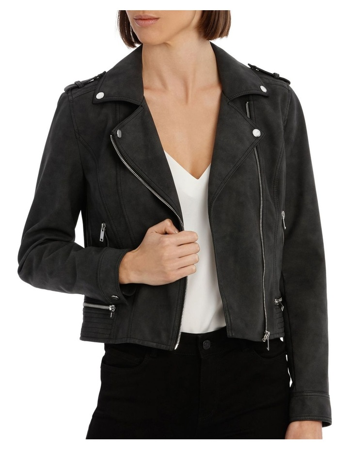 World Faux Leather Jacket image 1