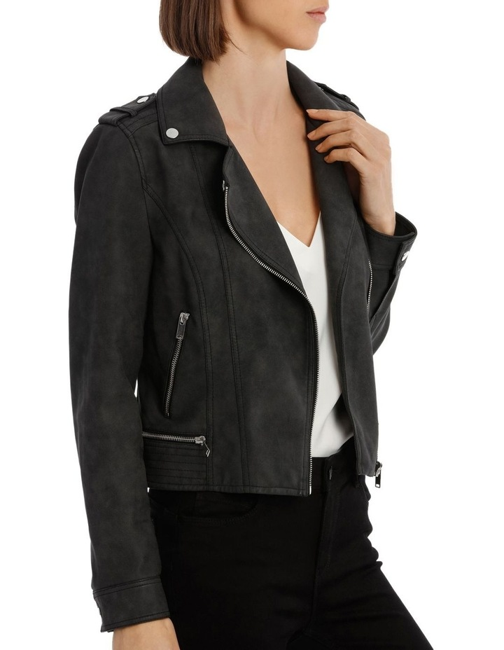 World Faux Leather Jacket image 2