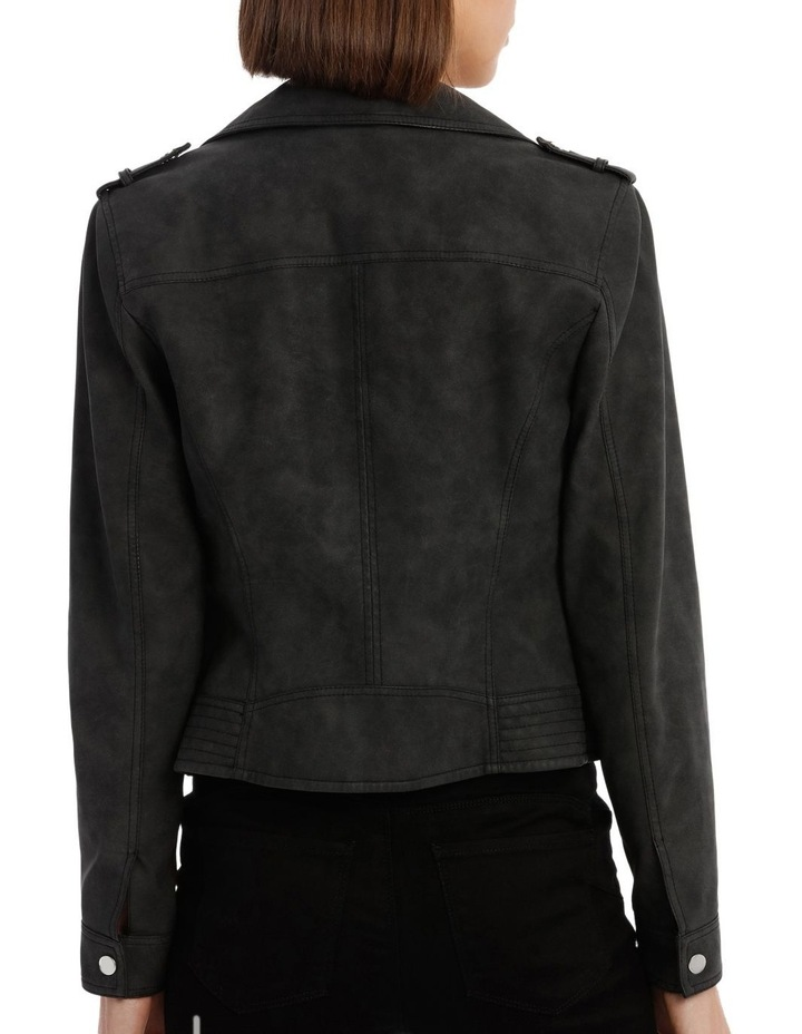 World Faux Leather Jacket image 3
