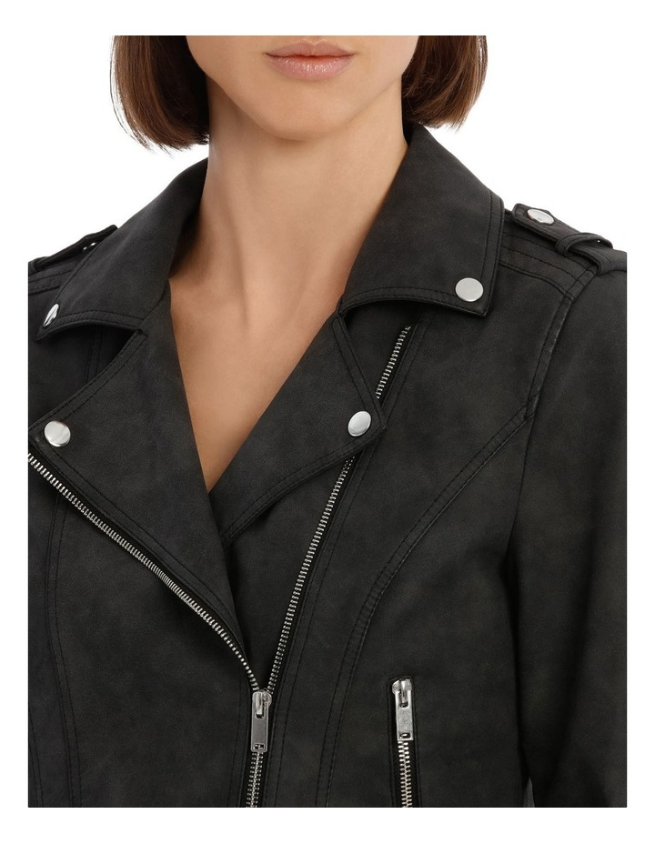 World Faux Leather Jacket image 4