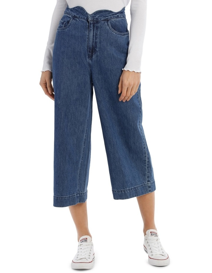 Lisa Scallop Cropped Wide Jeans image 1