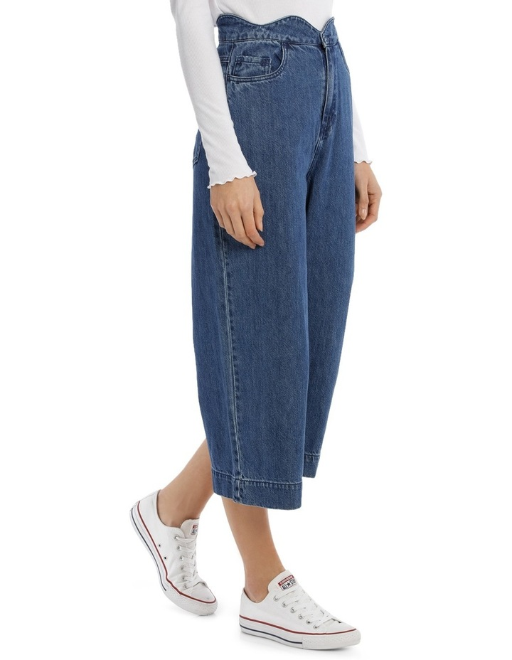 Lisa Scallop Cropped Wide Jeans image 2