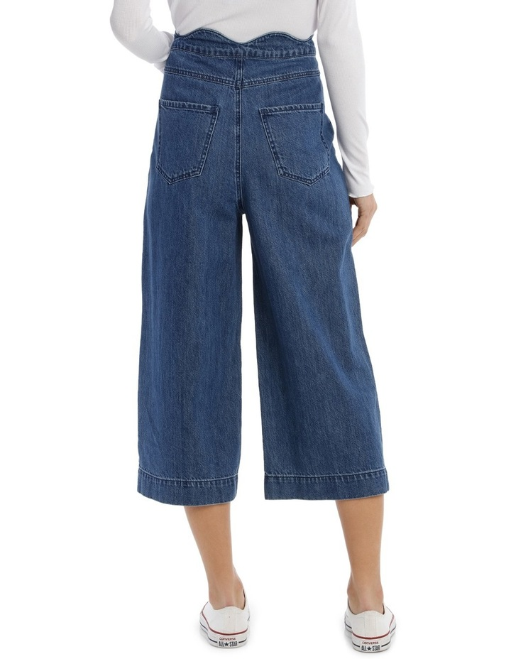 Lisa Scallop Cropped Wide Jeans image 3