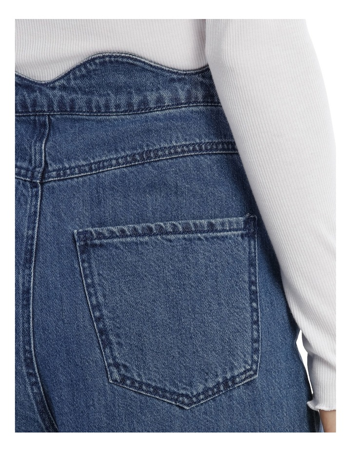 Lisa Scallop Cropped Wide Jeans image 4