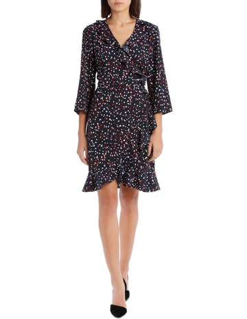 8b13d2630523 Vero Moda Henna 3 4 Sleeve Wrap Dress