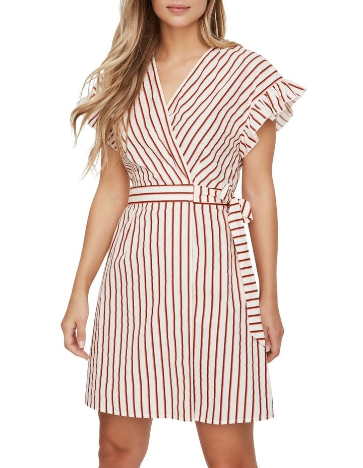 Olympia Striped Wrap Dress image 1