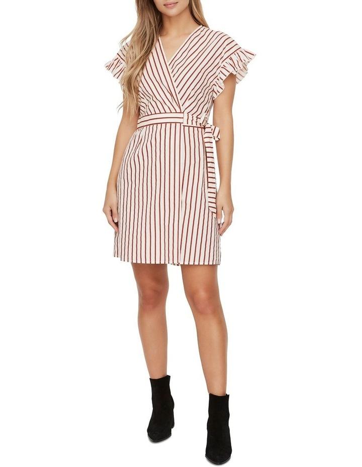 Olympia Striped Wrap Dress image 3