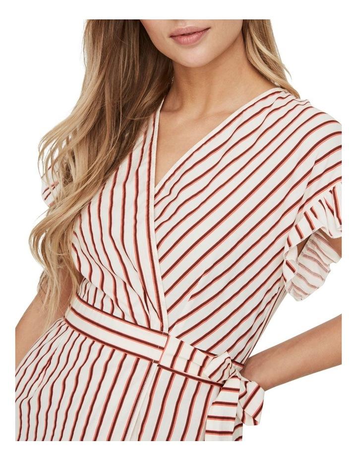 Olympia Striped Wrap Dress image 4