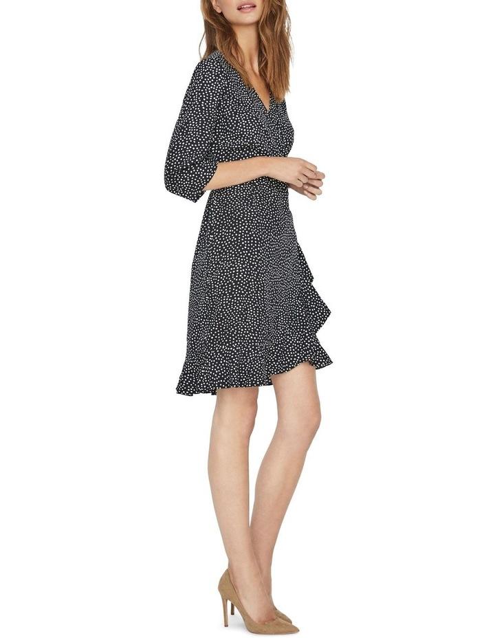 Henna Dotted Wrap Mini Dress image 3
