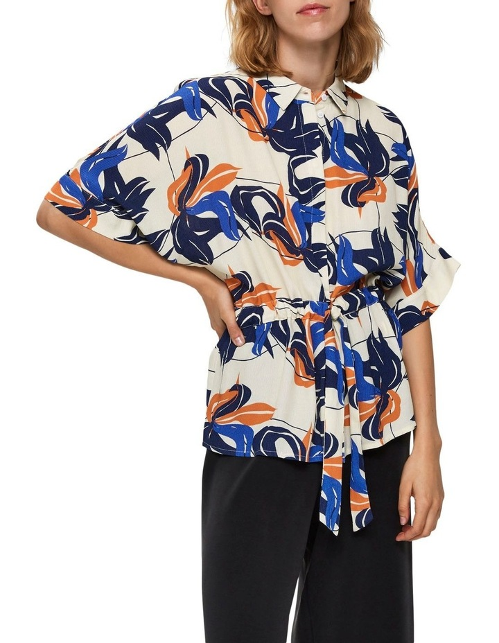 Printed Button Up Blouse image 1