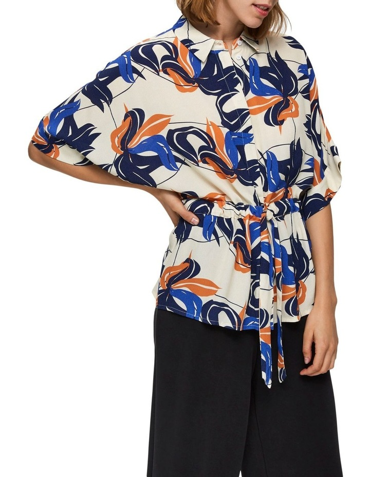Printed Button Up Blouse image 4