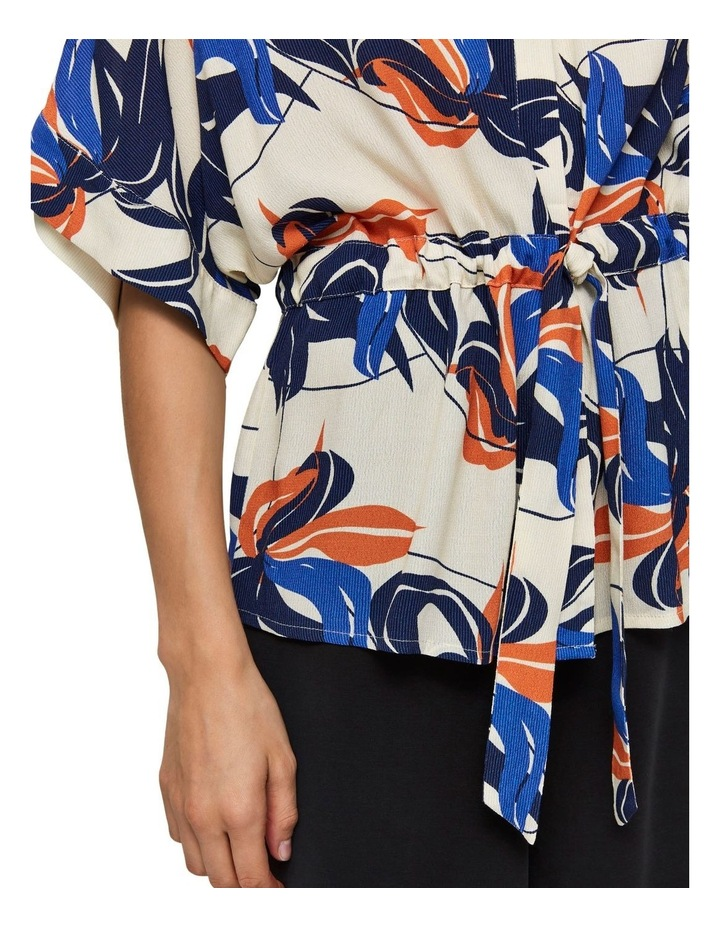 Printed Button Up Blouse image 5