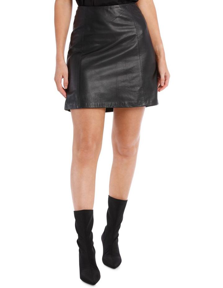 Bimi Mid Waist Leather Skirt image 1