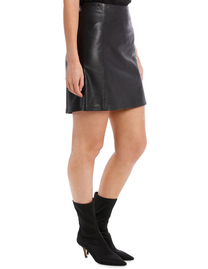 Bimi Mid Waist Leather Skirt image 2