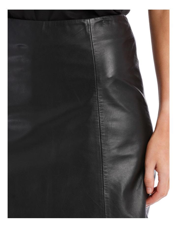 Bimi Mid Waist Leather Skirt image 4
