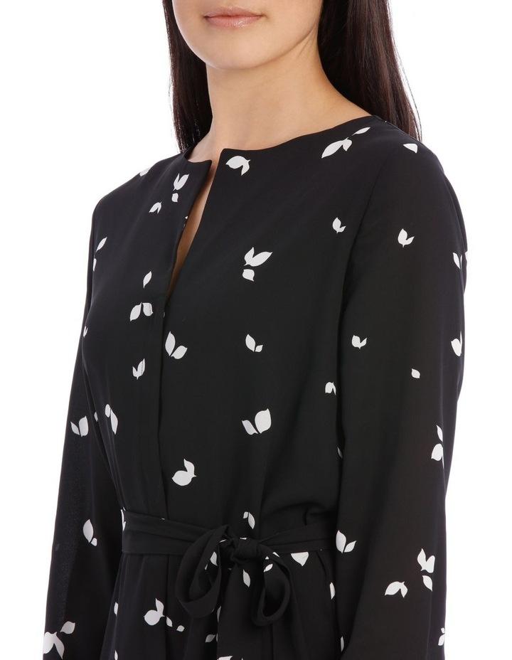 Dynella Long Sleeve Dress in Black image 4