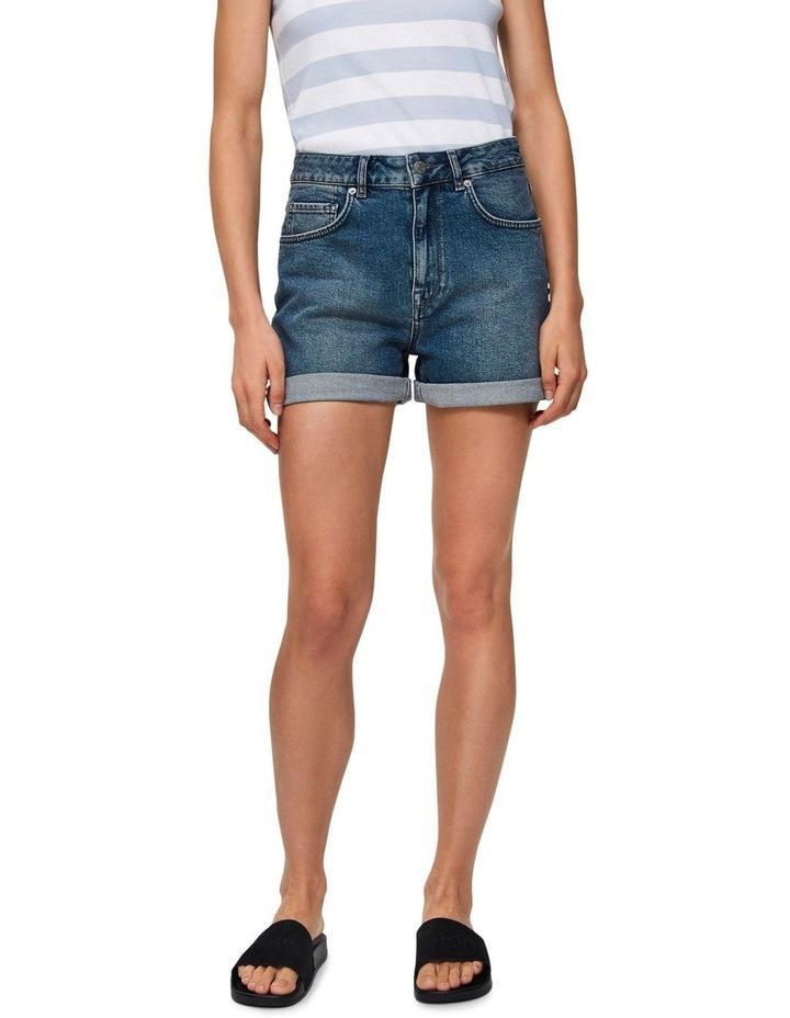 Dark Blue Denim Shorts image 1