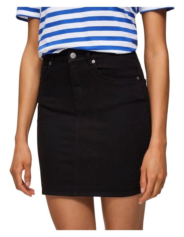 Kenna Black Denim Skirt image 1