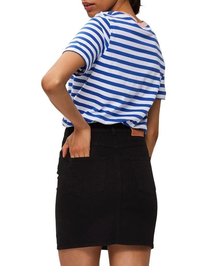 Kenna Black Denim Skirt image 2