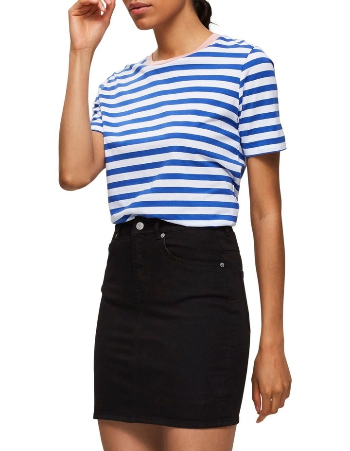Kenna Black Denim Skirt image 3