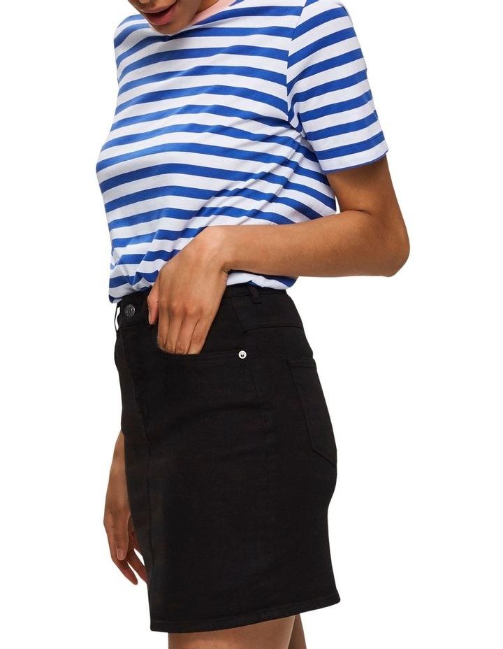 Kenna Black Denim Skirt image 4