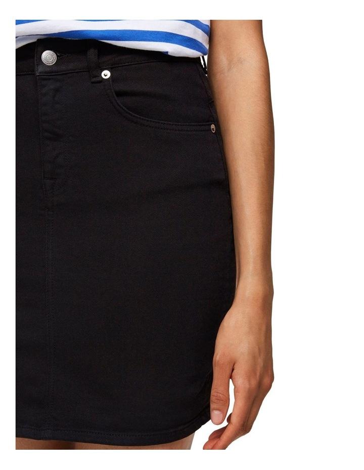 Kenna Black Denim Skirt image 5