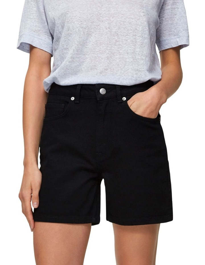 Black Denim Shorts image 1