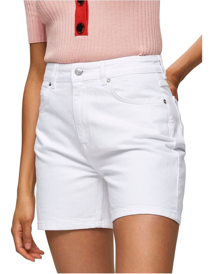White Denim Shorts image 1