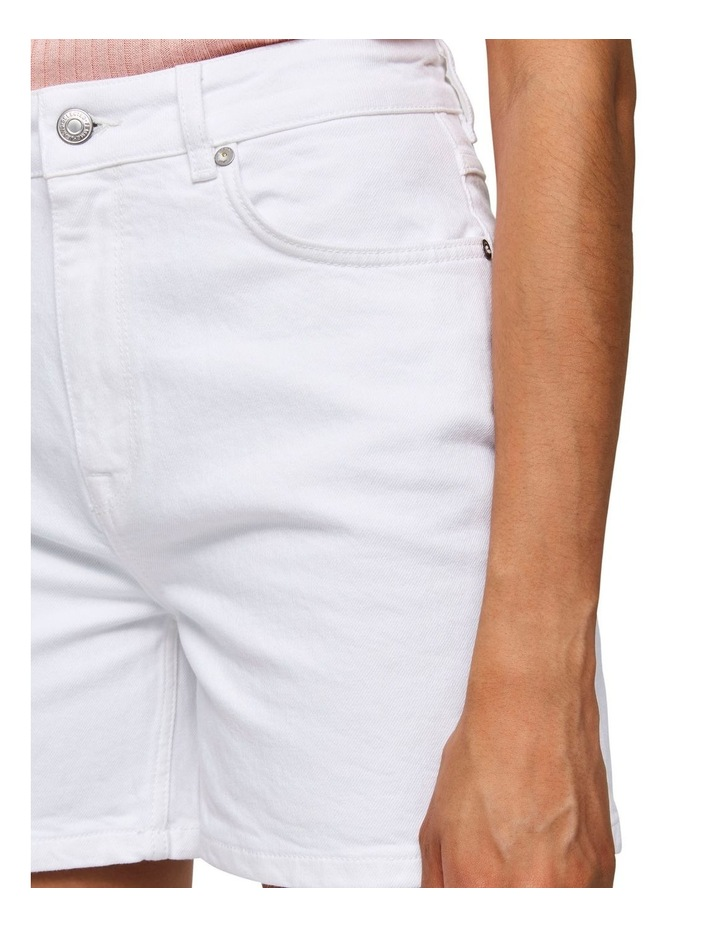 White Denim Shorts image 5