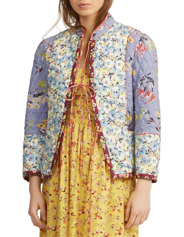 Floral Quilted Blazer image 1