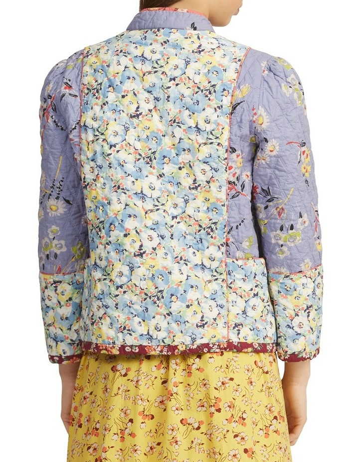 Floral Quilted Blazer image 2