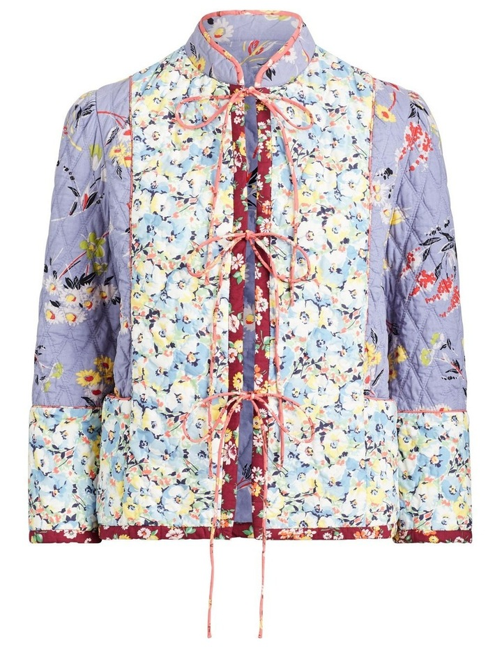Floral Quilted Blazer image 4