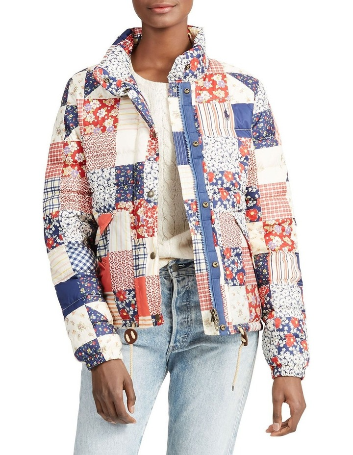 Patchwork Quilted Down Jacket image 1