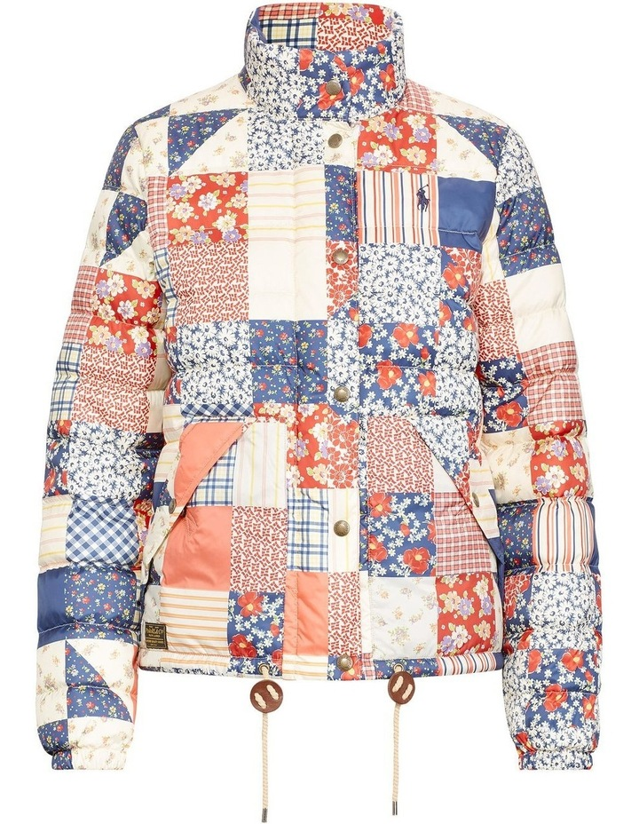 Patchwork Quilted Down Jacket image 4