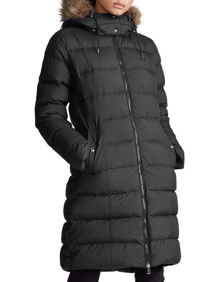 Faux-Fur-Trim Down Coat image 1