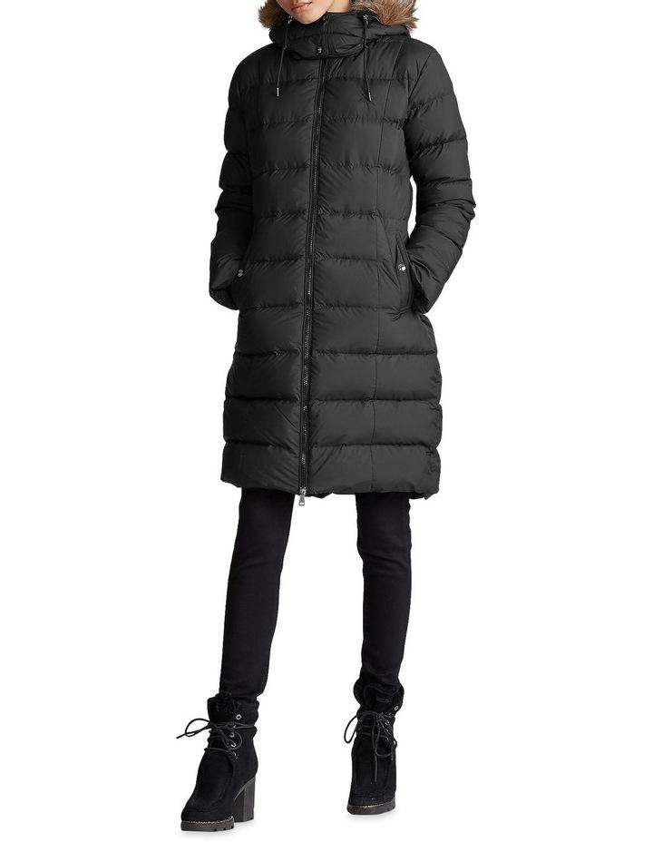 Faux-Fur-Trim Down Coat image 3