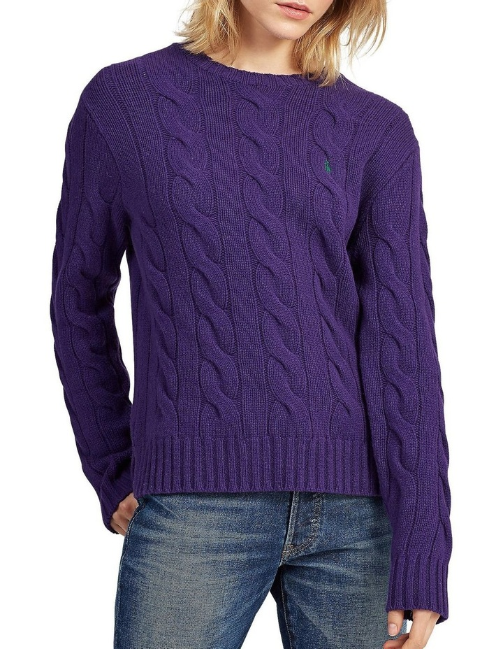Cable Wool Crewneck Sweater image 1