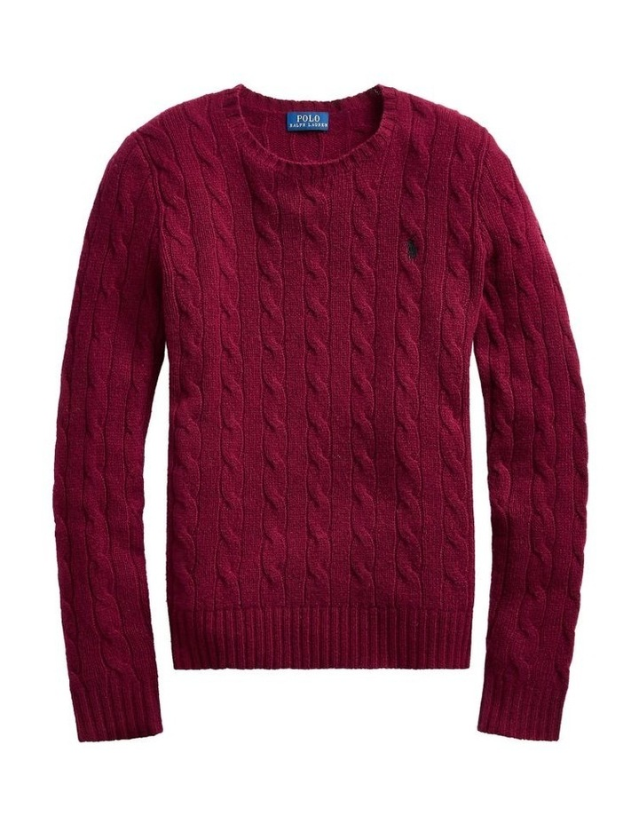 Cable Wool Crewneck Sweater image 4