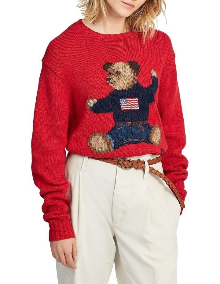 Polo Bear Cotton-Linen Sweater image 1