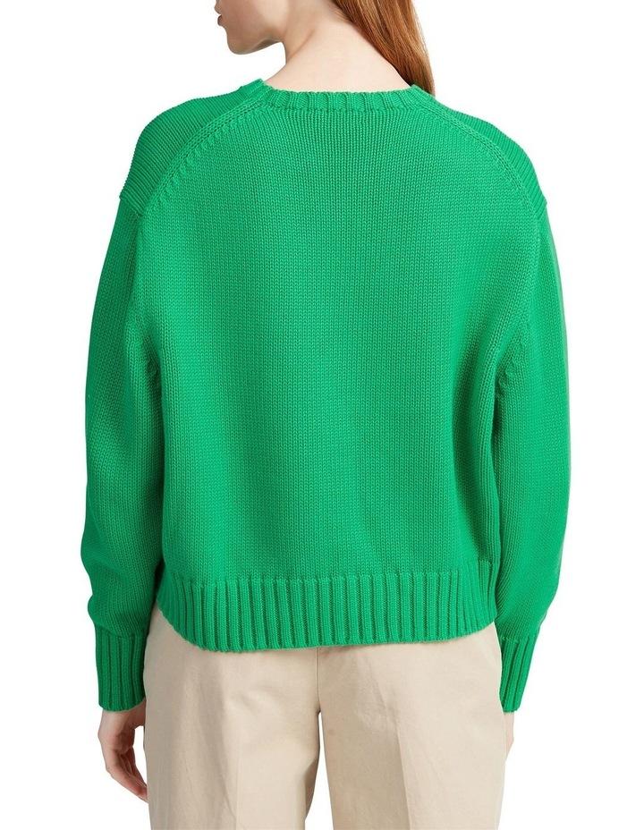 Boxy Flag Crewneck Sweater image 2