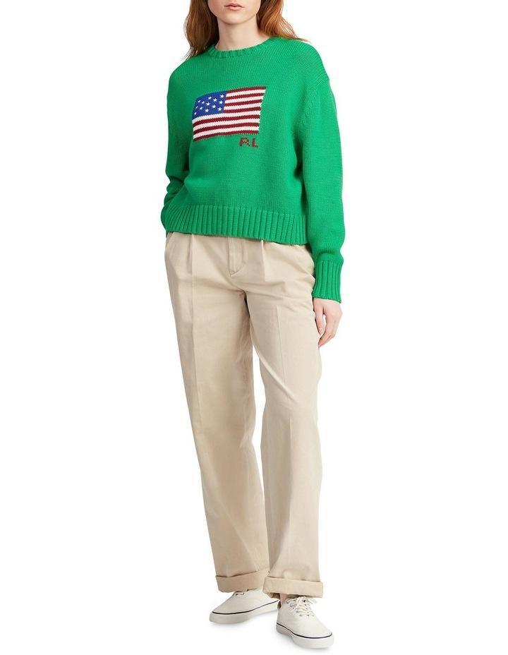 Boxy Flag Crewneck Sweater image 3
