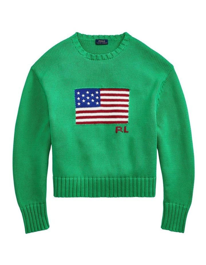 Boxy Flag Crewneck Sweater image 4