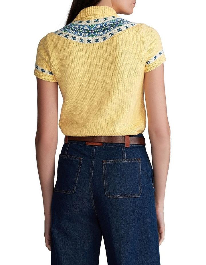 Jacquard-Knit Sweater Polo image 2