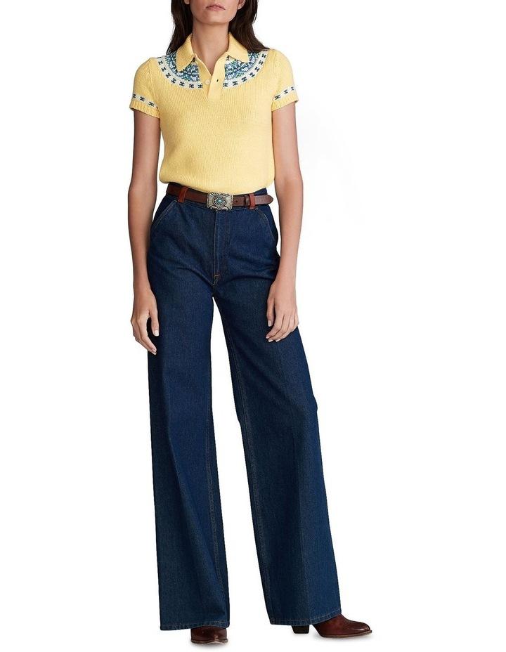 Jacquard-Knit Sweater Polo image 3